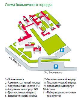 Областная больница челябинск схема расположения корпусов